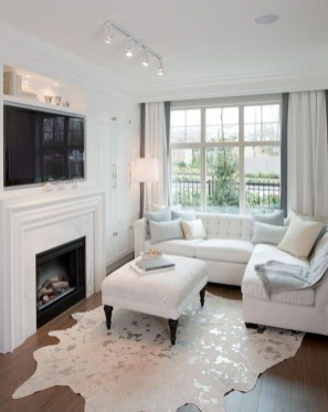 Cool Living Room Design Ideas With Fireplace To Keep You Warm This Winter18