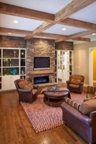 Cool Living Room Design Ideas With Fireplace To Keep You Warm This Winter20