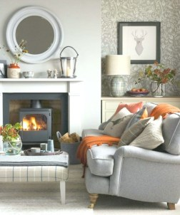 Cool Living Room Design Ideas With Fireplace To Keep You Warm This Winter23