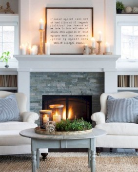 Cool Living Room Design Ideas With Fireplace To Keep You Warm This Winter25