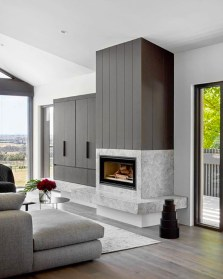 Cool Living Room Design Ideas With Fireplace To Keep You Warm This Winter30