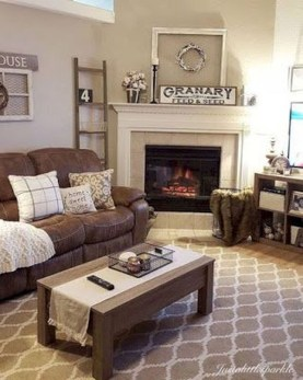 Cool Living Room Design Ideas With Fireplace To Keep You Warm This Winter33
