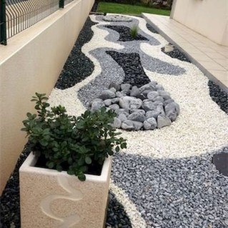 Fascinating Side Yard And Backyard Gravel Garden Design Ideas That Looks Cool18