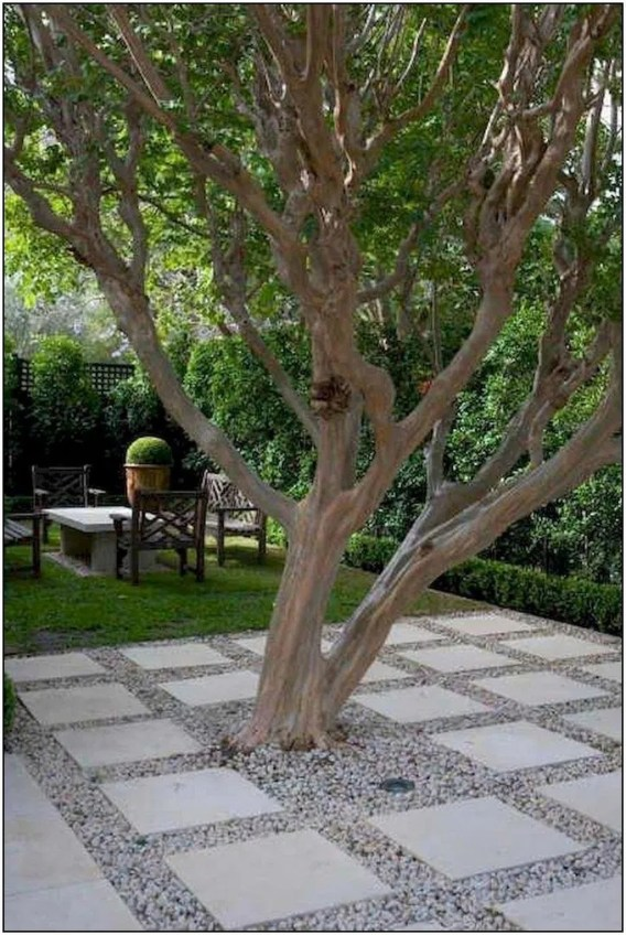 Fascinating Side Yard And Backyard Gravel Garden Design Ideas That Looks Cool46