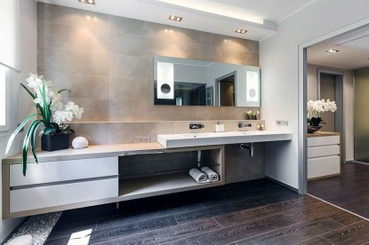 Functionally Decorated Contemporary Powder Rooms11