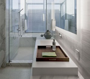 Functionally Decorated Contemporary Powder Rooms16