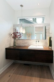 Functionally Decorated Contemporary Powder Rooms17