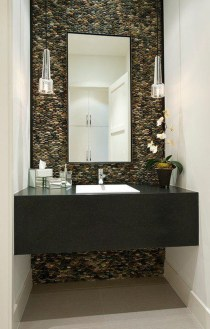 Functionally Decorated Contemporary Powder Rooms19