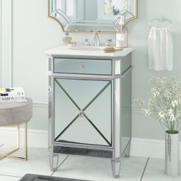 Functionally Decorated Contemporary Powder Rooms25