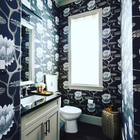 Functionally Decorated Contemporary Powder Rooms34