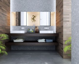 Functionally Decorated Contemporary Powder Rooms36
