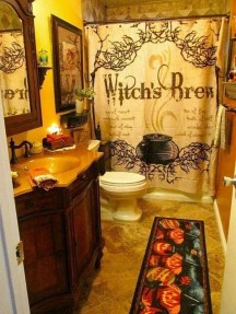 Modern Halloween Decorating Ideas For Your Bathroom34