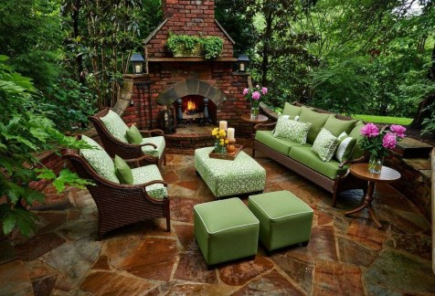 Relaxing Outdoor Fireplace Designs For Your Garden03