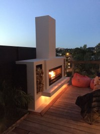 Relaxing Outdoor Fireplace Designs For Your Garden08