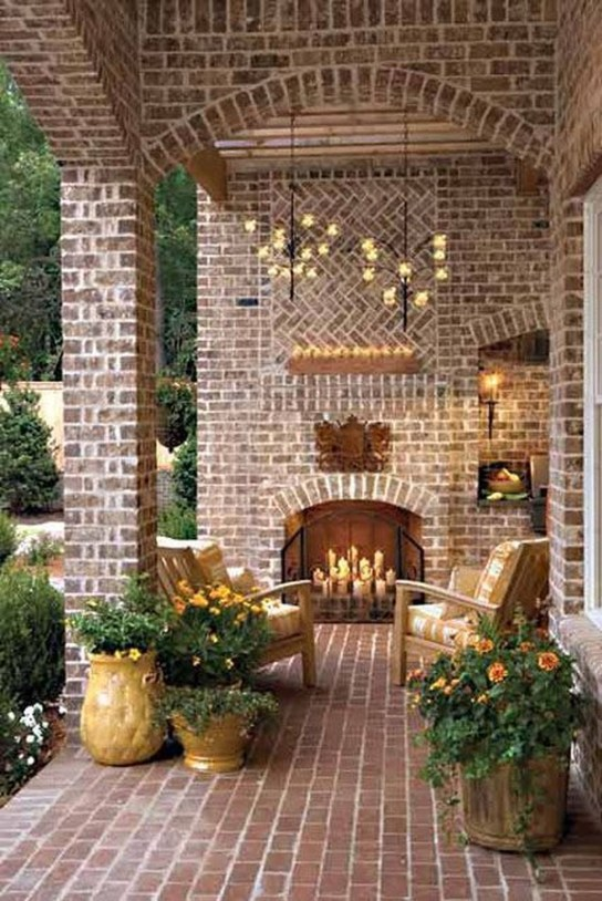 Relaxing Outdoor Fireplace Designs For Your Garden11