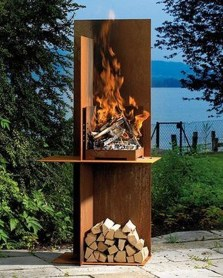 Relaxing Outdoor Fireplace Designs For Your Garden12