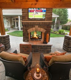 Relaxing Outdoor Fireplace Designs For Your Garden13