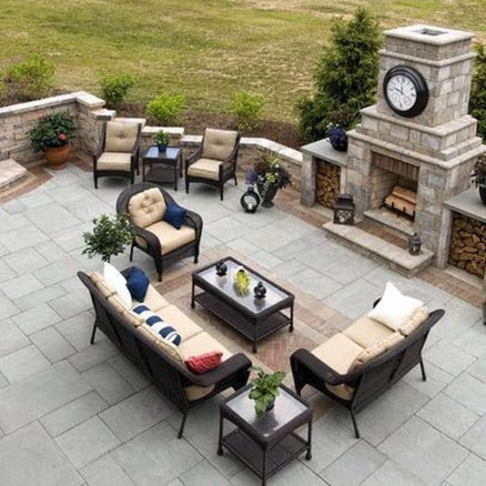 Relaxing Outdoor Fireplace Designs For Your Garden19