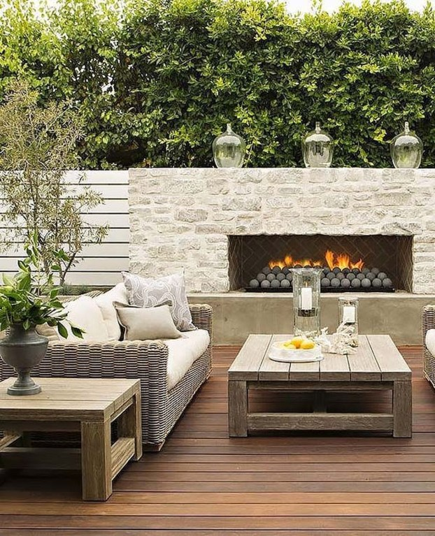 Relaxing Outdoor Fireplace Designs For Your Garden46