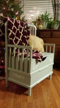 Inspirational Ways How To Repurpose Old Babys Cribs40