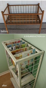 Inspirational Ways How To Repurpose Old Babys Cribs41