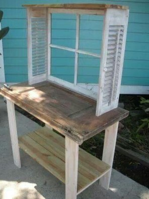 Simple And Creative Ideas Of How To Reuse Old Doors08