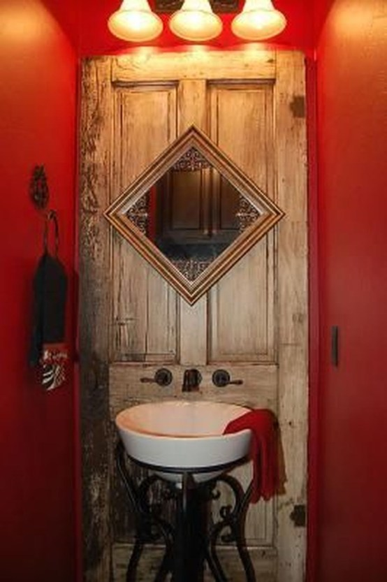 Simple And Creative Ideas Of How To Reuse Old Doors47