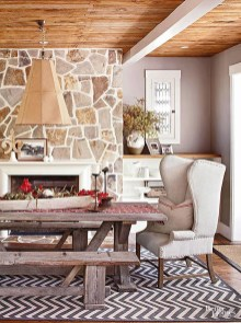 Warm Cozy Rustic Dining Room Designs For Your Cabin01
