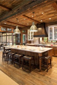 Warm Cozy Rustic Dining Room Designs For Your Cabin04