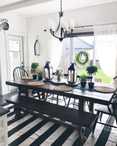 Warm Cozy Rustic Dining Room Designs For Your Cabin30