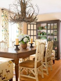 Warm Cozy Rustic Dining Room Designs For Your Cabin31