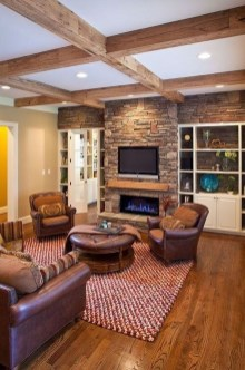 Warm Rustic Family Room Designs For The Winter01