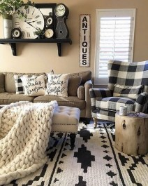 Warm Rustic Family Room Designs For The Winter10