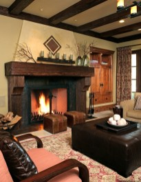 Warm Rustic Family Room Designs For The Winter11