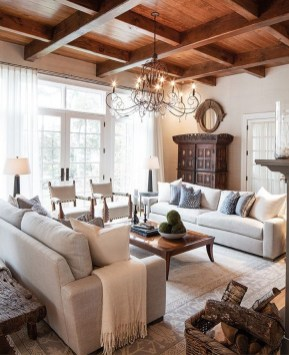 Warm Rustic Family Room Designs For The Winter24