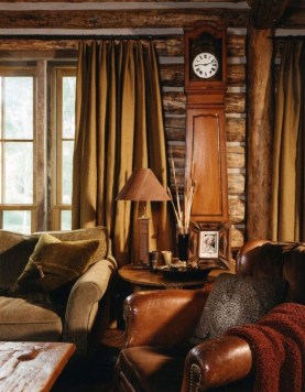 Warm Rustic Family Room Designs For The Winter33