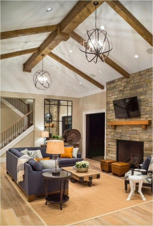 Warm Rustic Family Room Designs For The Winter38