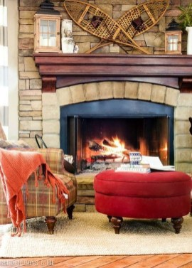 Warm Rustic Family Room Designs For The Winter39