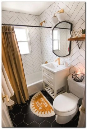 Amazing Small Apartment Bathroom Decoration You Can Try16