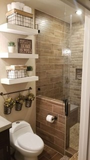 Amazing Small Apartment Bathroom Decoration You Can Try29