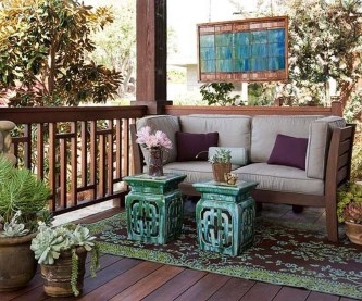 Beautiful And Colorful Porch Design14