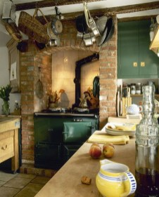 Beautiful And Cozy Green Kitchen Ideas03