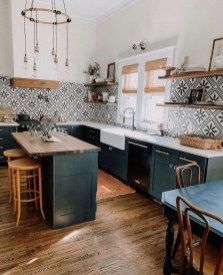 Beautiful And Cozy Green Kitchen Ideas13