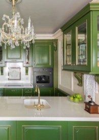 Beautiful And Cozy Green Kitchen Ideas14