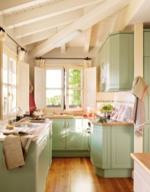 Beautiful And Cozy Green Kitchen Ideas23