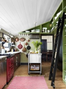 Beautiful And Cozy Green Kitchen Ideas31
