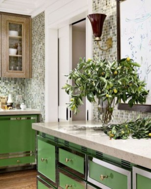 Beautiful And Cozy Green Kitchen Ideas33