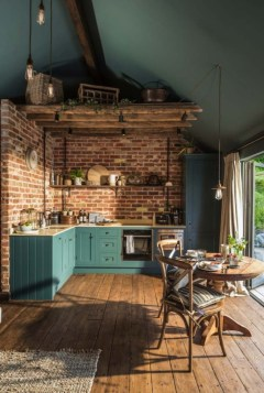 Beautiful And Cozy Green Kitchen Ideas34
