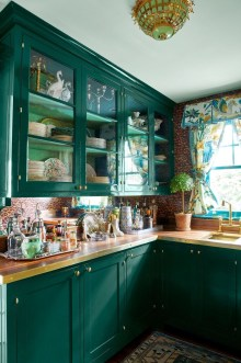 Beautiful And Cozy Green Kitchen Ideas39
