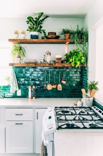 Beautiful And Cozy Green Kitchen Ideas41
